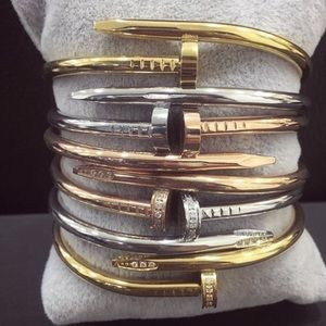 1 Oak Jewelry - 1 Oak Love Nail Bracelet Bangle